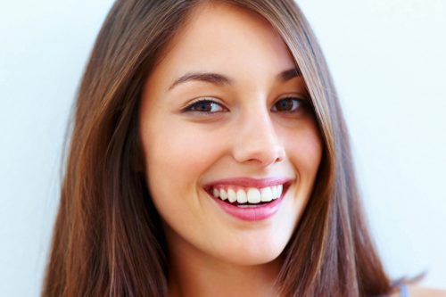 beautiful woman with white teeth