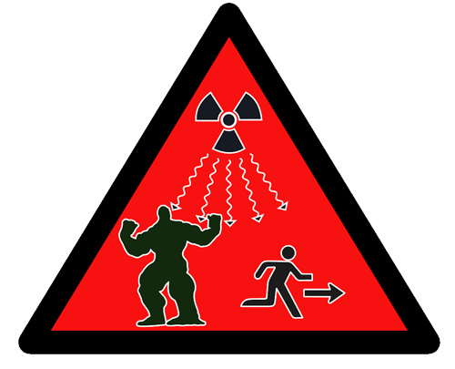 Protection from Radiation Hazard Sign