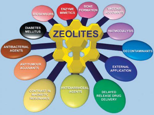powdered zeolite