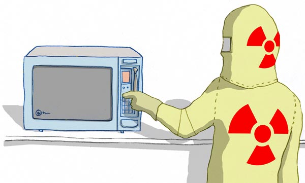 does a microwave give off radiation