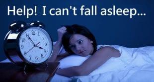 i can't fall asleep