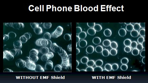 cell phone blood effect