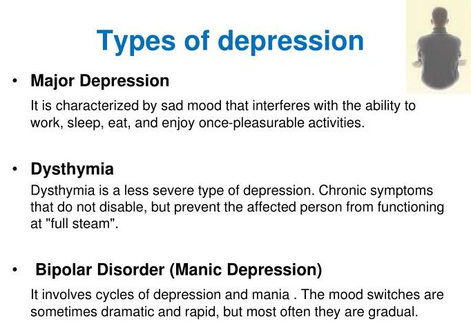 types of depression therapy